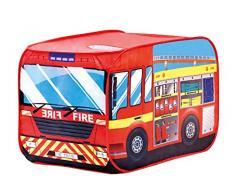 Bino & Mertens 82815 - Feuerwehrauto, Spielzelt, rot