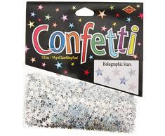 Beistle CN054 Silber Hologramm-Sterne Konfetti, 1/-/Bratenspritze