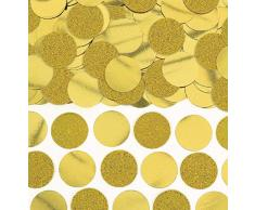 Amscan 360220-19 Circle Foil Confetti Party Decoration 1.9cm-63g-1 Pc. Konfetti Scheiben Glitzer-Folie gold
