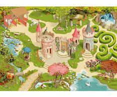 Papo 60504 WILDTIERE Teppich Bezaubernde Welt, Mehrfarben