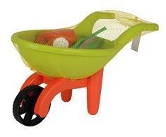 Simba 107137758 - Schubkarre mit Gartenwerkzeug, grün / orange