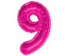 Unique Party Folienballon im Zahlen-Design, groß, 86,4 cm