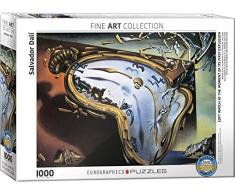 Eurographics Salvador Dali Soft Watch at Moment of First Explosion Melting Clock Puzzle, Motiv: Schmelzende Uhr von Dali (1.000 Teile, Mehrfarbig)