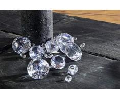 Riffelmacher 68804 Dekoration Diamanten Streudeko für Weihnachten Party Hochzeit Taufe 500 Gramm, Klar