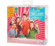Carnival Toys 4271 - Party Set, 5 Hüte, 5 Kronen, 1 Girlande, 10 Luftschlangen, 10 Ballons