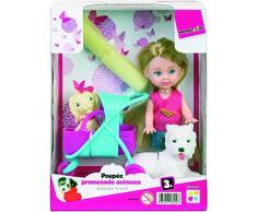WDK Partner – Puppe Kinderwagen Tiere, 87001