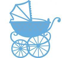 Marianne Design Creatables Elines Kinderwagen - Stanzschablone und Prägeschablone für die Kartengestaltung und Scrapbooking, Metal, Blue, 7.3 x 8.2 x 0.4 cm