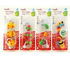 Globo Toys Globo – 5135 VITAMINA _ G 4 verschiedene Baby Kette für Kinderwagen