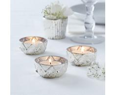 Ginger Ray Wedding Silver Checked Glass Tea Light Glas, silber
