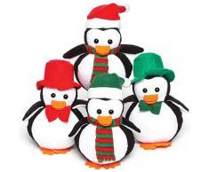 Baker Ross AF817 Plüsch-Pinguine (Beanbag) – ideal für Kinder zum Nikolaus (4 Stück)