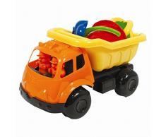 Crafty Creations nbwd-x-92590 6 Stück Outdoor Toy Play Set mit Kippwagen, Spaten, Rechen, Gießkanne, Eimer und Formen – 36 M +