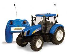 TOMY Britains Spielzeug Traktor RC New Holland Big Farm in blau - ferngesteuerter Traktor aus Kunststoff mit Fernbedienung - Trecker zum Spielen und Sammeln - ab 3 Jahre