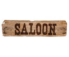 Boland 54354 Dekoration Saloon Schild 60x13 cm, braun, 60 x 13 cm