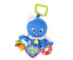 Baby Einstein, Octopus Stoffspielzeug für den Kinderwagen, mit Rassel und babysicherem Spiegel, ideal für unterwegs