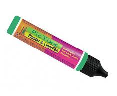 Kreul 49815 - PicTixx Pluster und Liner Pen, Plusterfarbe zum Dekorieren und Verzieren, für Dekoeffekte durch aufplustern im Backofen, mit Bügeleisen oder Fön, 29 ml Pen, maigrün