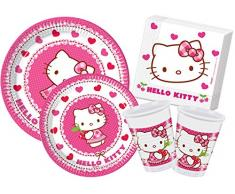 Ciao y4306 – Kit Party in Tisch Hello Kitty Hearts, Pink/Weiß