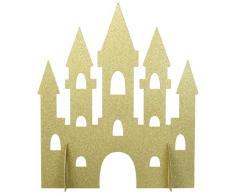 Unique Party 58378 35 cm gold Glitter Princess Castle Tisch Dekoration