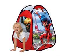 John 76044 76044-Pop Up Miraculous Ladybug-Kinderzelt, Wurfzelt, Spielhaus mit gedrucktem Motiv für Kinder Spielzelt