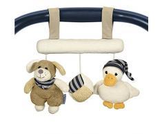 Sterntaler Spielzeug zum Aufhängen mit Klettverschluss, Hund Hanno, Inklusive Rassel, Alter: Für Babys ab der Geburt, Beige/Braun