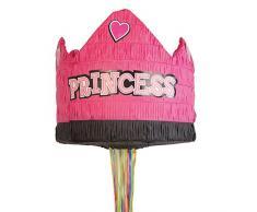 Amscan 9903136 Pull Pinata Prinzessinnen Krone Spielzeug, Mehrfarbig