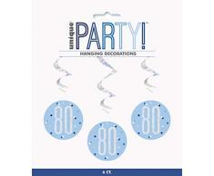 Unique Party 83803 Dekoration, blau/silber
