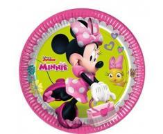 Disney 53837 Minnie Mouse Party Dekoration Teller Papier, 23 cm/groß