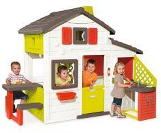 Smoby 3032168102002 Friends House Spielhaus mit Küche Zubehör Garten Haus Kinderhaus Outdoor