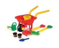 Speelgoed 738 / G00540 - Schubkarre mit Eimmerset, Wasser/Sandspielzeug, 65 x 33 x 33 cm, 8 Stück