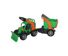 polesie 48400 GRIPTRAC mit Schneeschild und Trailer mit Waschbecken Spielzeug