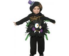 Smiffys, Kinder Jungen Verrückte Spinne Kostüm, Überwurf mit Kapuze, Größe: T1 (Kleinkind Small), 35650