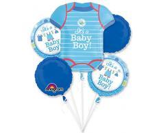 amscan 3091401 Folienballon Set It´s a Baby Boy
