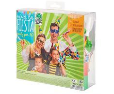 Carnival Toys 4282 - Party Set, 10 Hüte, 10 Masken, 10 Luftschlangen, 10 Luftrüssel