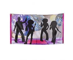 Boland 00738 - Fahne Disco Fever, Größe 150 x 90 cm, Material Polyester, 70er Jahre, Banner, Dekoration, Motto Party, Karneval