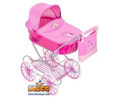 Unbekannt Saica 9493 Kinderwagen, Rosa / Weiß