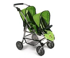 Bayer Chic 2000 691 16 - Tandem Puppen Buggy Twinny, Bumblebee, grün