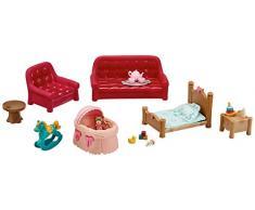 Lil Woodzeez 6123Z Wohn- und Kinderzimmer-Set, Mehrfarbig