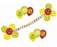 Riethmüller 450283 - Deko Set - Happy Birthday, Girlande und 17 Luftballons