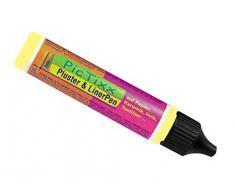 Kreul 49820 - PicTixx Pluster und Liner Pen, Plusterfarbe zum Dekorieren und Verzieren, für Dekoeffekte durch aufplustern im Backofen, mit Bügeleisen oder Fön, 29 ml Pen, nachtleuchtgelb