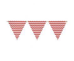 Neviti Carnival Wimpelkette, Rot