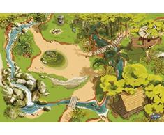 Papo 60503 Welt des MITTELALTERS Teppich Dschungel, Mehrfarben