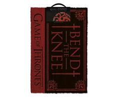 empireposter Game of Thrones - Bend The Knee - Fußmatte, Größe: 60 x 40 cm, Material Kokosfaser