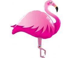 Flamingo Ballon - XXL Riesenballon für Luft und Helium 117x80x30cm als Geburtstagsgeschenk, Party-Deko oder Überraschung für die Freundin