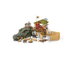 Schleich 42350 - Dschungel Forschungsstation Croco - Spielzeug
