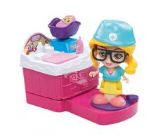 Flipsies – Clementine mit Küche und Puppe Kinderwagen EIS (Vtech 3480 – 159522) Carina-Set