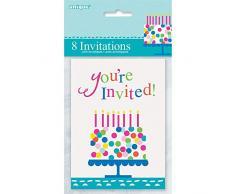 Unique Party Supplies Konfetti Kuchen Geburtstag Einladungen, 8 Stück