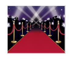 Beistle 52150 Roter Teppich Insta Wandmalerei, 5-Fuß von 6-Fuß