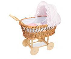 Unbekannt Petitcollin petitcollin800101 Puppe Wicker Kinderwagen