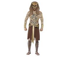 Smiffys, Herren Zombie-Pharao Kostüm, Überwurf, Armmanschetten und Kopfteil, Größe: M, 40097