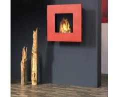 muenkel design square fire 75 Bio Wandkamin: Rot