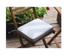Auflage für Gartenstuhl FIJI grau-beiges Zickzack Muster 29 x 38 x 5 cm